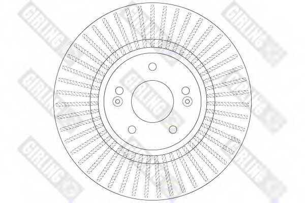 Тормозной диск GIRLING 6079731 - изображение 1