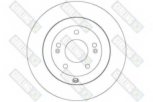 Тормозной диск GIRLING 6079964 - изображение 1