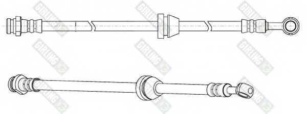 Тормозной шланг GIRLING 9004947 - изображение
