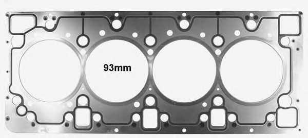 Прокладка головки цилиндра GLASER H80034-00 - изображение