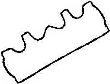 Прокладка крышки головки цилиндра GLASER X53099-01 - изображение