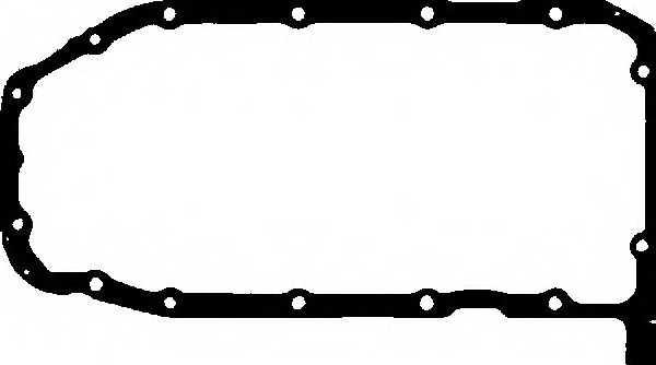 Прокладка, масляный поддон GLASER X54360-01 - изображение