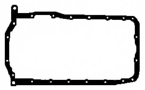 Прокладка, масляный поддон GLASER X54598-01 - изображение