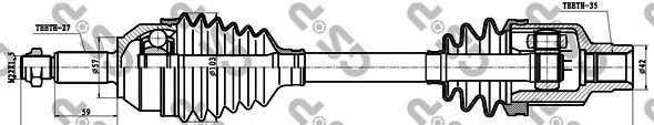 Приводной вал GSP GDS18003 / 218003 - изображение