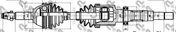 Приводной вал GSP GDS18242 / 218242 - изображение