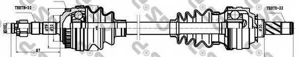 Приводной вал GSP GDS44037 / 244037 - изображение