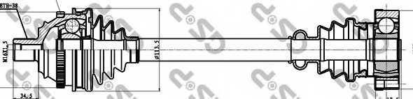 Приводной вал GSP GDS61052 / 261052 - изображение