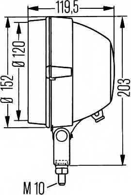 Основная фара HELLA E1 44413 / 1A3 005 760-518 - изображение 1