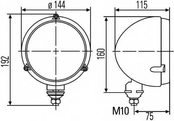 Основная фара HELLA E12 20001 / 1A3 996 002-191 - изображение 1