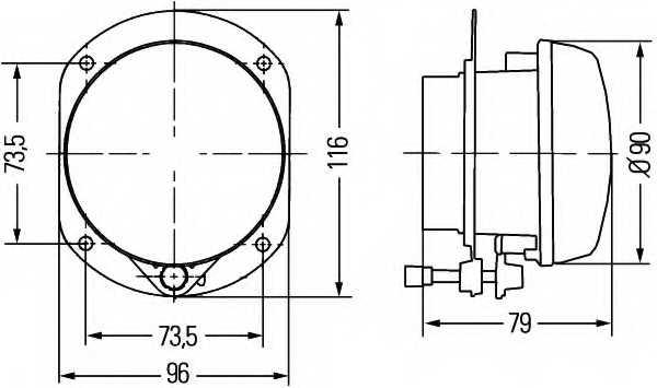 Противотуманная фара HELLA E1 1342 / 1N0 008 582-001 - изображение 1