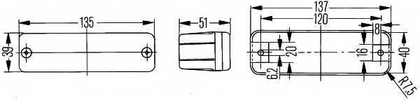 Фонарь указателя поворота HELLA E1 42788 / 2BA 002 939-251 - изображение 1