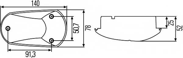 Дополнительный проблесковый маячок HELLA E1 1059 / 2BM 008 355-001 - изображение 1