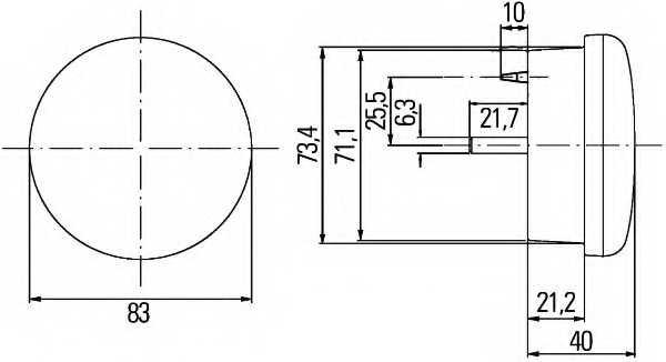 Задний противотуманный фонарь HELLA E4 11391 / 2NE 959 011-501 - изображение 1