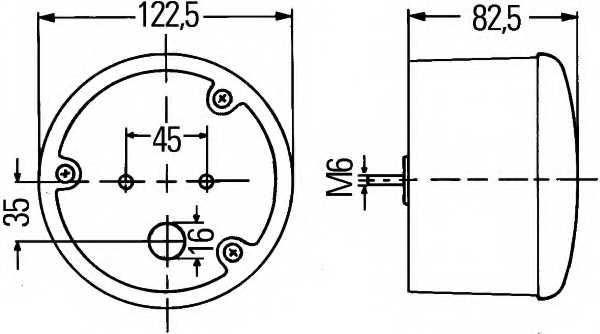 Задний противотуманный фонарь HELLA E17 3809 / 2NE 964 169-521 - изображение 1
