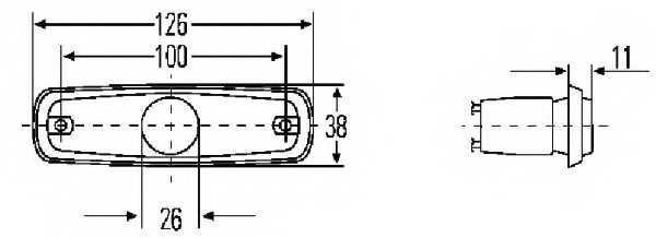Стояночный огонь HELLA E4 7499 / 2PF 962 964-071 - изображение 1