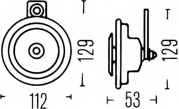 Звуковой сигнал HELLA E1 20024 / 3BA 002 768-082 - изображение 1