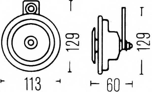 Звуковой сигнал HELLA E1 20024 / 3BA 002 768-201 - изображение 1
