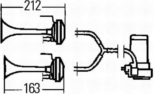 Звуковой сигнал HELLA E9 6045 / 3PB 003 001-651 - изображение 1