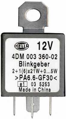 Прерыватель указателей поворота HELLA 4DM 003 360-021 - изображение