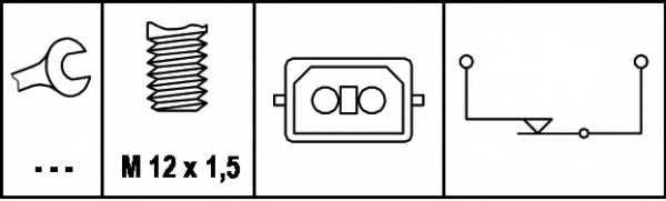 Выключатель фонаря сигнала торможения HELLA 6DD 008 622-161 - изображение 1