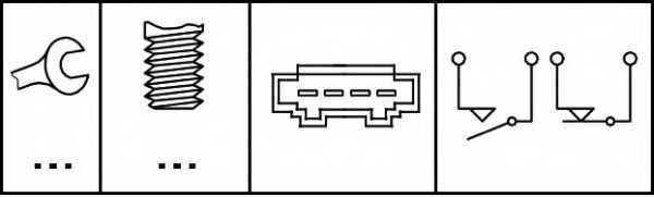 Выключатель фонаря сигнала торможения HELLA 6DD 008 622-731 - изображение 1