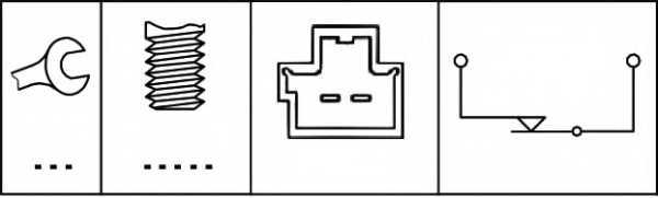 Выключатель фонаря сигнала торможения HELLA 6DD 010 966-001 - изображение 1