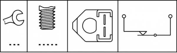 Выключатель фонаря сигнала торможения HELLA 6DF003263-081 - изображение 1