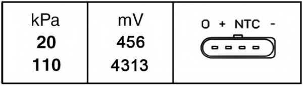 Датчик давления во впускном газопроводе HELLA 6PP 009 400-241 - изображение 1