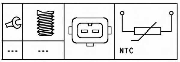 Датчик температуры охлаждающей жидкости HELLA 6PT 009 309-541 - изображение 1