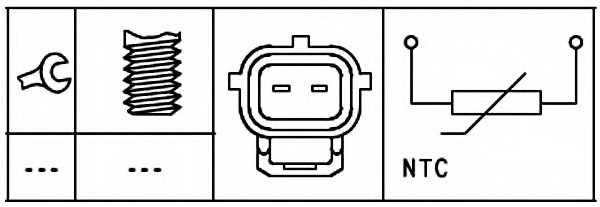 Датчик температуры охлаждающей жидкости HELLA 6PT 009 309-571 - изображение 1