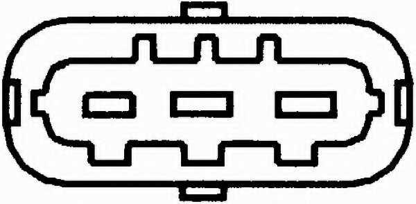 Датчик импульса зажигания HELLA 6PU 009 121-071 - изображение 1