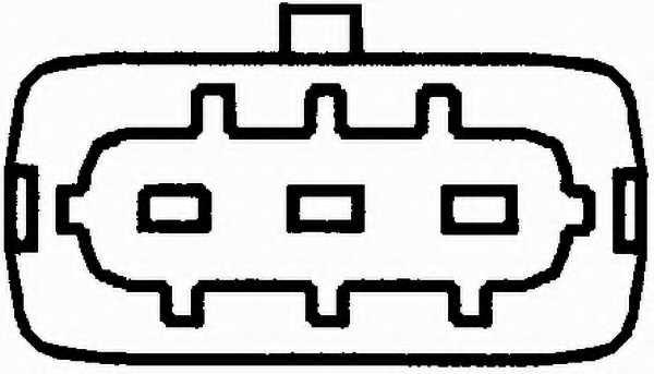 Датчик положения распредвала HELLA 6PU 009 121-501 - изображение 1