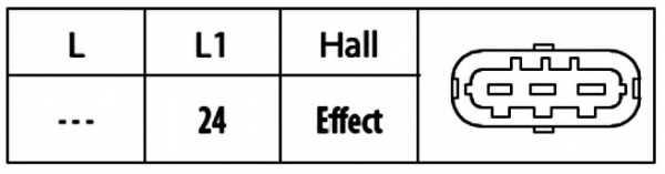 Датчик положения распредвала HELLA 6PU009121-911 - изображение 1