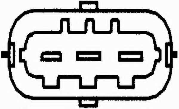 Датчик положения распредвала HELLA 6PU009163-921 - изображение 1
