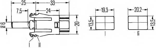 Выключатель, контакт двери HELLA 6ZF 004 229-011 - изображение 1