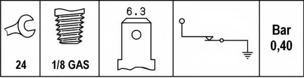 Датчик давления масла HELLA 6ZF 007 392-001 - изображение 1