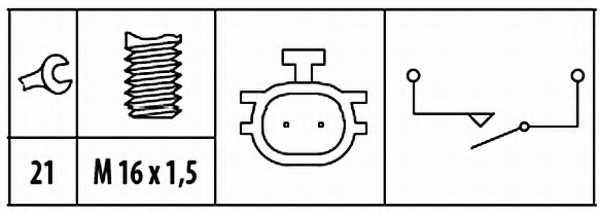 Выключатель фары заднего хода HELLA 6ZF 181 612-061 - изображение 1