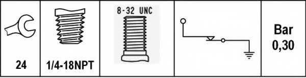 Датчик давления масла HELLA 6ZL 003 259-421 - изображение 1