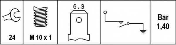 Датчик давления масла HELLA 6ZL003259-471 - изображение 1
