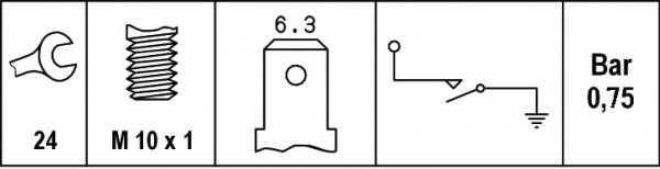 Датчик давления масла HELLA 6ZL 003 259-481 - изображение 1