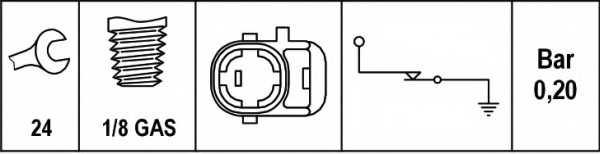 Датчик давления масла HELLA 6ZL 003 259-511 - изображение 1