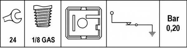 Датчик давления масла HELLA 6ZL003259-541 - изображение 1