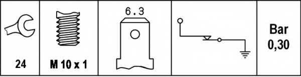 Датчик давления масла HELLA 6ZL 003 259-641 - изображение 1