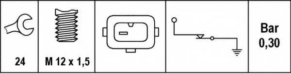 Датчик давления масла HELLA 6ZL 006 097-001 - изображение 1
