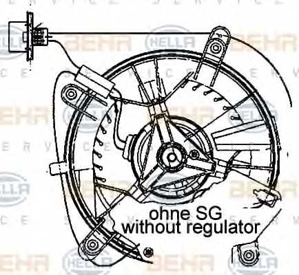 Вентилятор салона HELLA 8EW 009 159-461 - изображение