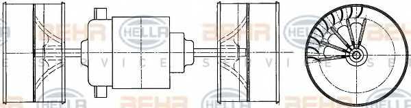 Вентилятор салона HELLA 8EW 009 160-021 - изображение