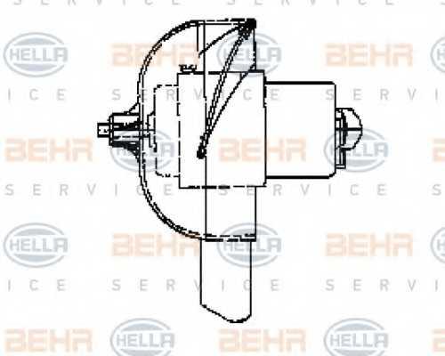Вентилятор салона HELLA 8EW 009 160-321 - изображение