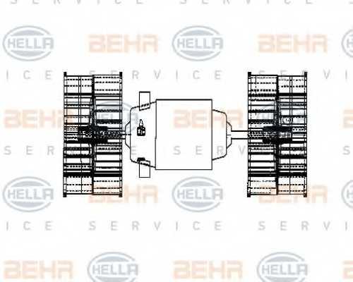 Вентилятор салона HELLA 8EW 009 160-641 - изображение