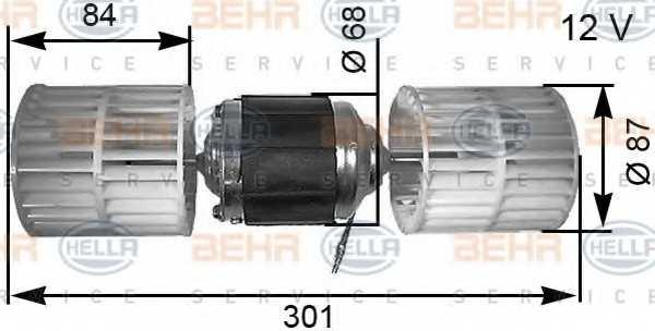 Вентилятор салона HELLA 8EW 351 034-041 - изображение