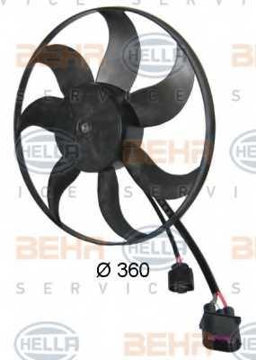 Вентилятор охлаждения двигателя HELLA 8EW 351 039-171 - изображение